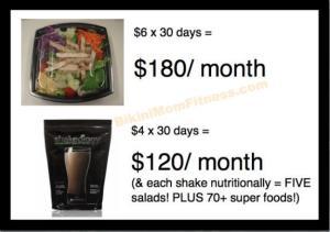 shake and salad